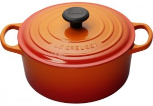 Le Creuset Flame Colored Cast Iron Cookware
