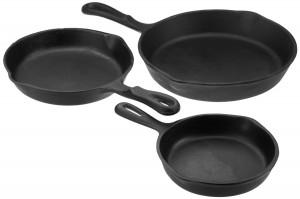 Seasoned Cast Iron Cookware Set